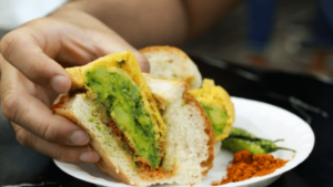Blast Vada Pav (Triple Spicy) at Chaat Bazaar