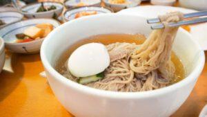 Mul Naengmyeon (Cold Buckwheat Noodles) at Koreana Restaurant