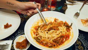 Lagman Noodles at UZB Avenue Restaurant