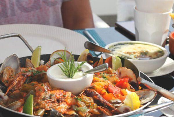 Food during a Frying Pan Adventures food tour