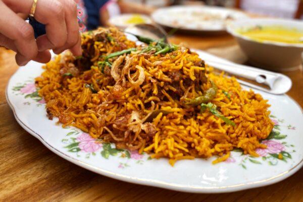 Emirati lamb machboos - Dubai Souks & Creekside Food Tour