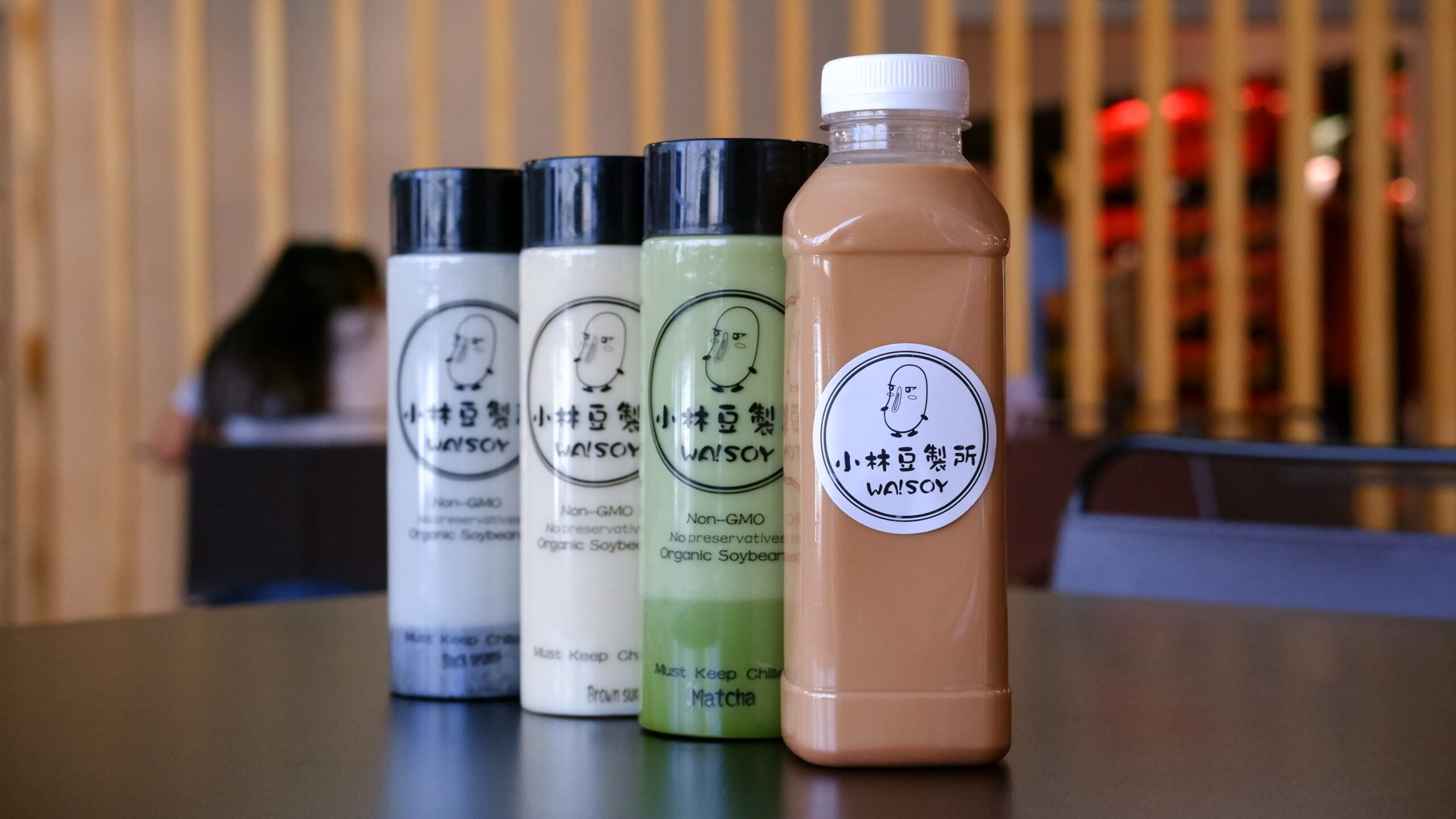 Flavoured Soy Milk bottles